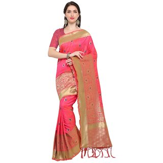 TexStile sarees womens Party wear Designer Sarees with Blouse Pieces(Light Pink Sari)