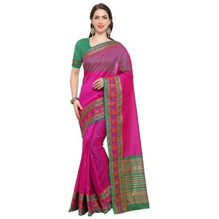 TexStile sarees womens Party wear Designer Sarees with Blouse Pieces(Pink Bear sari)