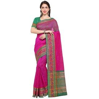TexStile sarees womens Party wear Designer Sarees with Blouse Pieces(Pink Elephant Sari)
