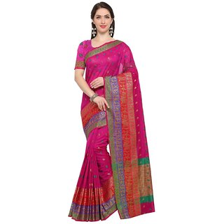 TexStile sarees womens Party wear Designer Sarees with Blouse Pieces(Pink Tree Saree)