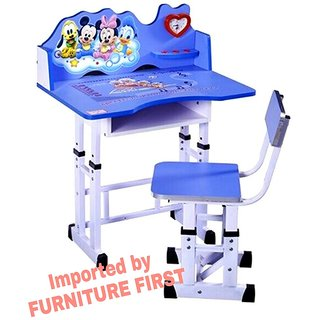 Furniture First Mickey Mouse Graphics Kids Study Table Chair Set For Age 3