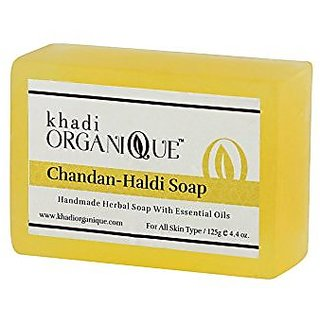 Khadi Organique Chandan Haldi Soap 125 GM