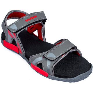 659c3094117f96 Buy Asian Photon-02 Grey Red Stylish Sandals For Men Online - Get 2% Off