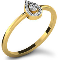 Sparkles 0.08ct Diamond Ring In 18 Kt Gold & Real Diamonds