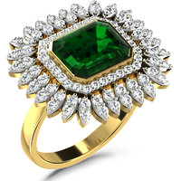 Sparkles 1.12ct Diamond Ring In 18 Kt Gold & Real Diamonds
