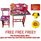 Furniture First Hello Kitty Kids Study Table And Chair Set For Age 3 10 Years Imported By