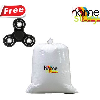 Home Story High Quality Bean Bag Refill for Bean Bag 0.5 KG(Free Fidget Spinner)