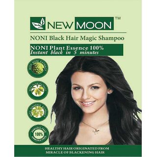 New Moon (Pack of 20 pcs 15 ml) HAIR COLOR Herbal Hair Color Black Hair Color (Black)