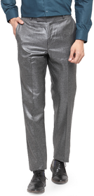 RG DESIGNERS Men Dark Grey Pencil Slim Fit Formal Trousers
