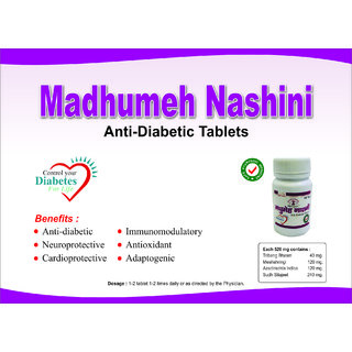Madhumeh Nashini Anti Diabetes Tablet (Can Give Results in 5 Days) 520 Mg 100 Tablets From 3G Organic