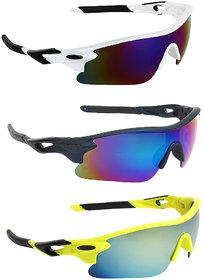 Zyaden Combo of Sport Sunglasses - COMBO-729