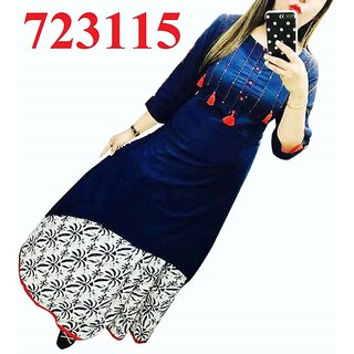 Fabrica Fab blue embroidered new cotton Kurtis