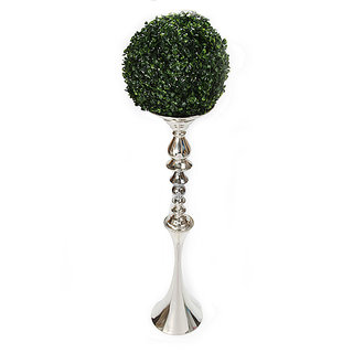 Decorative silver vase