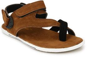 Le Franco tan men sandals