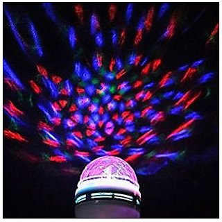 Kudos LED Mini Lamp 360 degrees rotating disco effect light crystal bulb