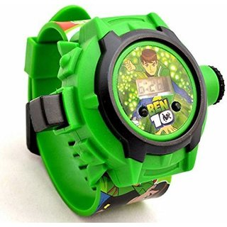 Ben 10 Omniverse Kids Watch with Inbuilt 24 Projector Image of Ben 10 Cartoon Characters