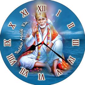 3d blue sai baba wall clock