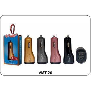 Signature 2.1 Amp VMT-26 Dual USB Car Charger (Assorted Colors)