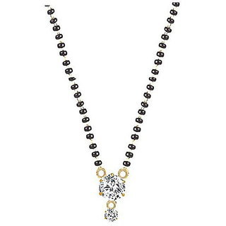 Buy american diamond mangalsutra pendant with chain for women online american diamond mangalsutra pendant with chain for women aloadofball Images