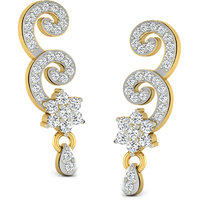 Sparkles Presents Diamond Earrings In 18 Kt Gold & Real Diamonds. Gr Wght 2.017 Grms, Diam Wght 0.27 Crts.