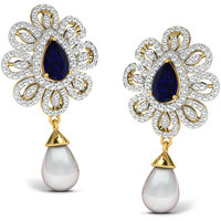 Sparkles Presents Diamond Earrings In 18 Kt Gold & Real Diamonds. Gr Wght 7.2 Grms, Diam Wght 1.46 Crts.