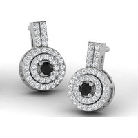 Sparkles Presents Diamond Earrings In 18 Kt Gold & Real Diamonds. Gr Wght 3.2 Grms, Diam Wght 0.34 Crts.