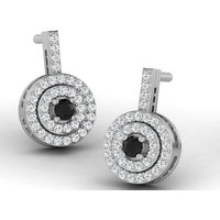 Sparkles Presents Diamond Earrings In 18 Kt Gold & Real Diamonds. Gr Wght 2.56 Grms, Diam Wght 0.32 Crts.