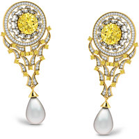 Sparkles Presents Diamond Earrings In 18 Kt Gold & Real Diamonds. Gr Wght 9.44 Grms, Diam Wght 1.65 Crts.