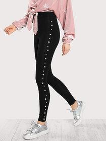 women tights/women Pearl work leggings/Black tights/ ladies tights/Free size