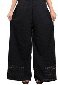 cotton palazzo/women palazzo pants/full chikan palazzo/ palazzo/ FREE SIZE