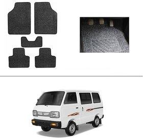 AutoStark Best Quality Set of 5 Carpet Black Car Foot Mat / Car Floor Mat for  Maruti Suzuki Omni (Maruti Van)