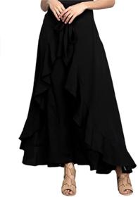 palazzo pants/women beautiful palazzo/Ruffle palazzo/Plain palazzos/skirt/skirt palazzo