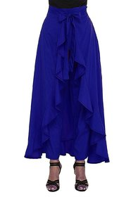palazzo pants/women beautiful palazzo/Blue Ruffle palazzo/Plain palazzos/skirt /skirt palazzo