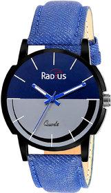 IndiaShop No 1 Radius Casual Round Blue Black Fabric Analog Water Resistant Watch For Men