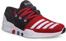 Groofer Men's Red  Black Sport Shoes
