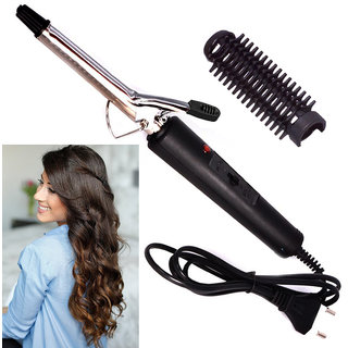 Professional Anti-Static Stainless Steel Curl Curling Make Hair Curler Curling Iron Rod Waver Maker Styling Tool 15W