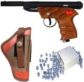 DYNAMIC MART BOND WOODEN METAL AIR GUN 100 PALLETS WITH COVER (BLACK, BROWN)