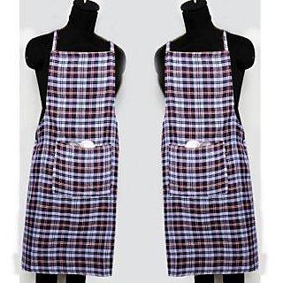 z decor check kitchen apron set of 2