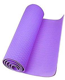 Strauss Lightweight Eco Friendly Yoga Mat 6 mm (Purple)