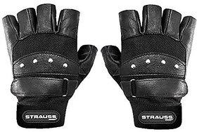Strauss Gladiator Leather Gym Gloves (Medium)