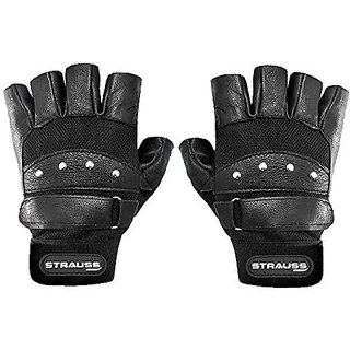 Strauss Gladiator Leather Gym Gloves (Medium)