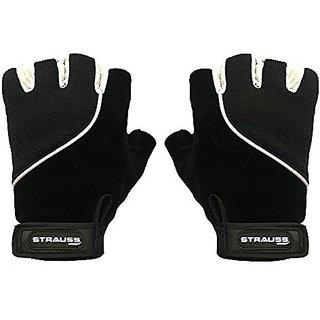 Strauss Comfort Velvet / Stretchback Cut Finger Gloves Large (Black)