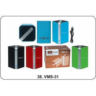 Signature VMS-31 Wireless Bluetooth Speaker With Aux MMC and USB Port (Assorted Colors)