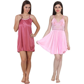 TEMFEN SATIN MULTICOLOR NIGHTY PACK OF 2