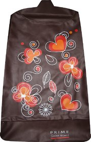 Laundry bag Hamper for clothes - Floral Heart Brown