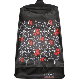 Laundry bag Hamper for clothes - Floral Vines Black