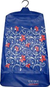 Laundry bag Hamper for clothes - Floral Vines Blue