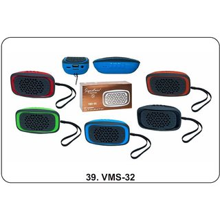 Signature VMS-32 Wireless Bluetooth Speaker With Aux, MMC and USB Port (Assorted Colors)