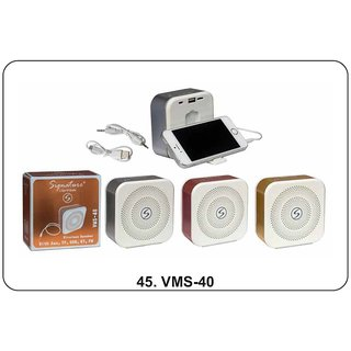 Signature VMS-40 Wireless Bluetooth Speaker With Aux TF USB and FM (Assorted Colors)