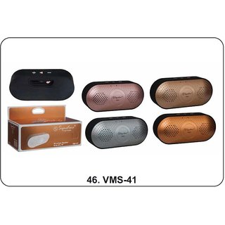 Signature VMS-41 Wireless Bluetooth Speaker With Aux TF USB and FM (Assorted Colors)